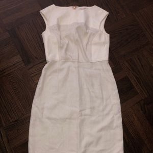 Tory Burch Linen and Leather Dress